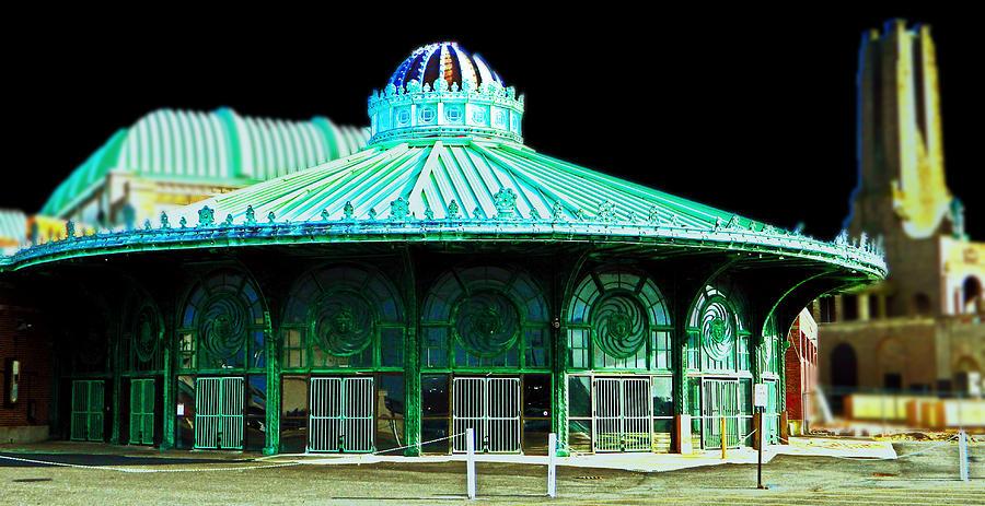 Carousel Photograph - Asbury Park Dreamland by  Tina McGinley