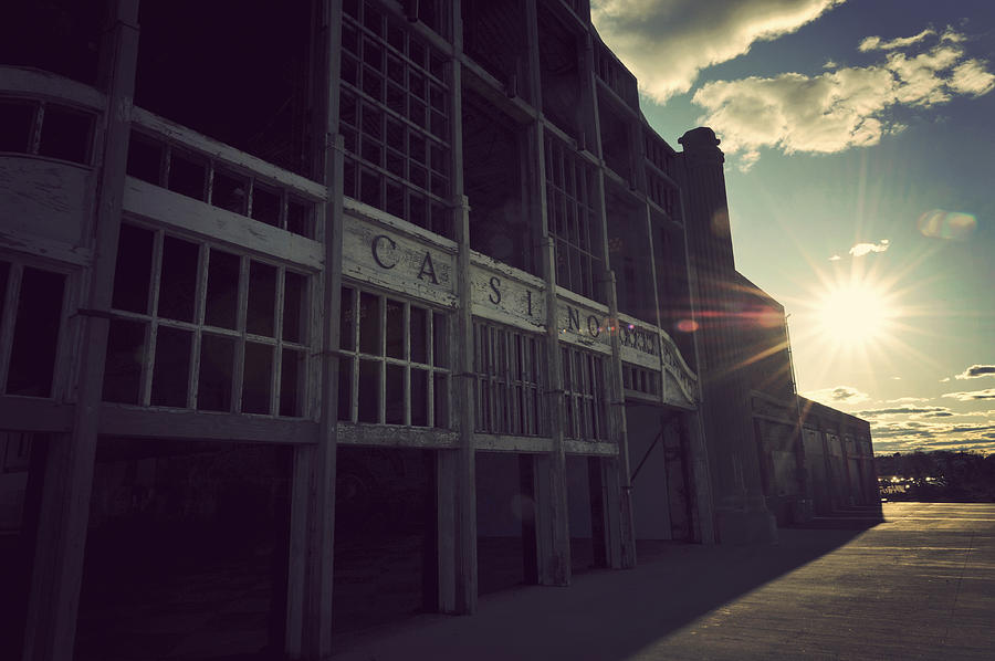 Asbury Park Photograph - Asbury Park Nj Casino Vintage by Terry DeLuco