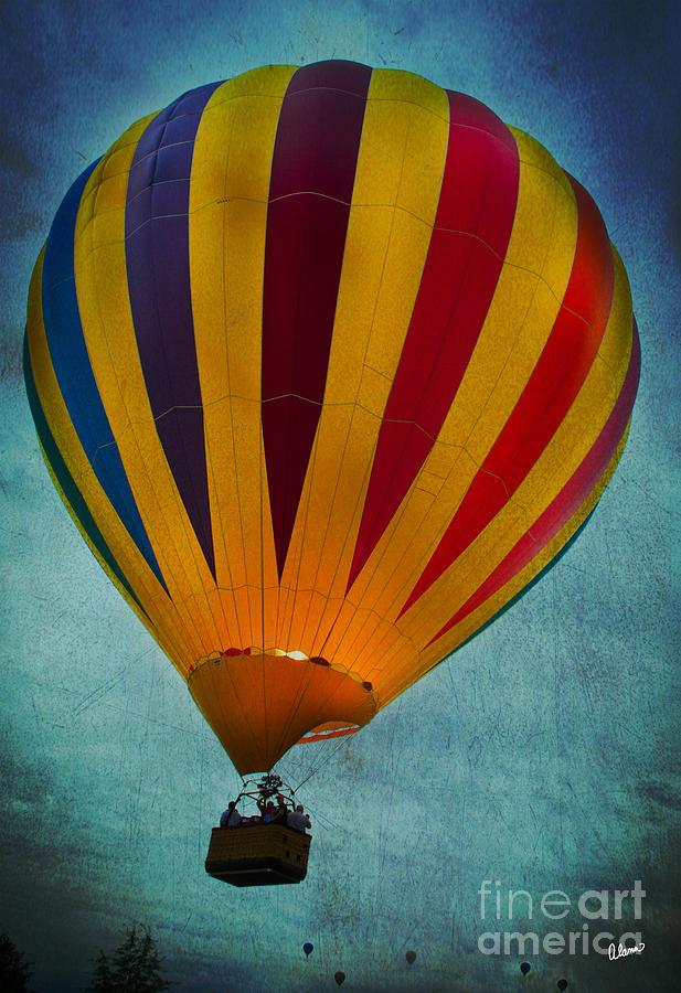 Hot Air Balloon Photograph - Ascending  by Alana Ranney