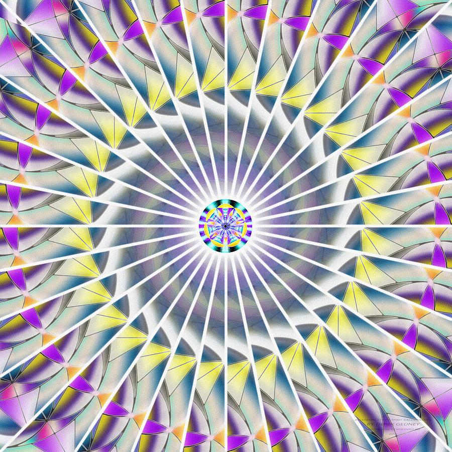 Sacredlife Mandalas Drawing - Ascending Eye Of Spirit Kaleidoscope by Derek Gedney