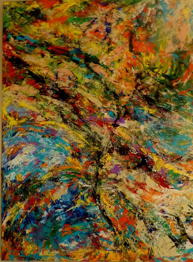 Landscape Painting - Ascension Abstraction by Barb Greene mann