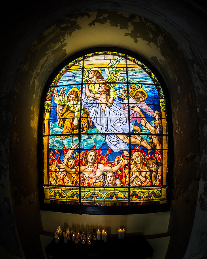 Stained Glass Photograph - Ascension by Carl Engman
