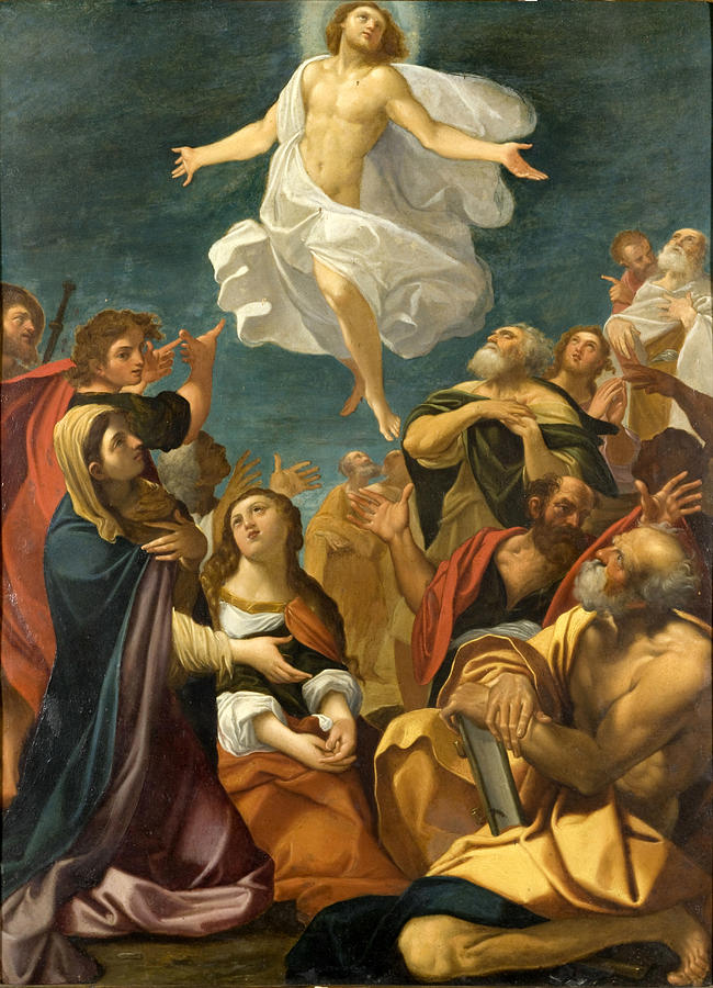 Ascension Of Christ Painting - Ascension Of Christ by Giacomo Cavedone