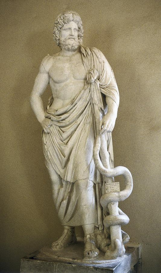 Vertical Photograph - Asclepius. 4th C. Bc. Classical Greek by Everett