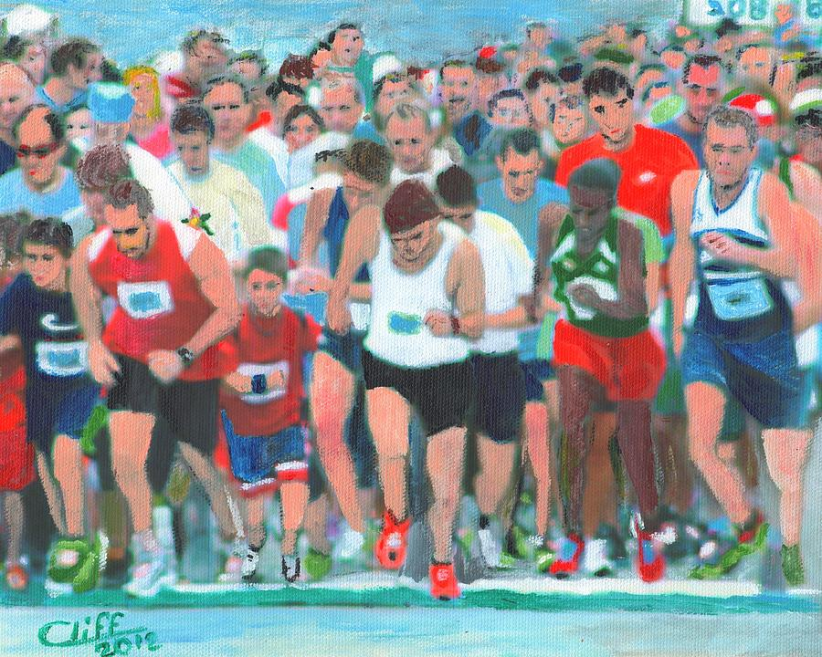 Painting Painting - Ashland Half Marathon by Cliff Wilson
