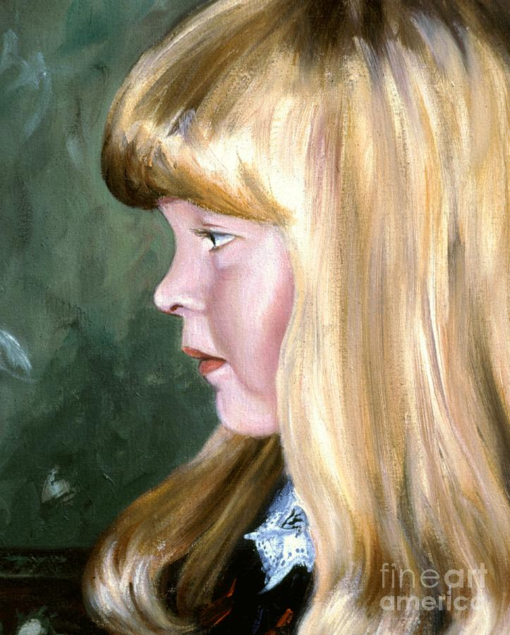 Portrait Commissions Painting - Ashley by Michael Swanson