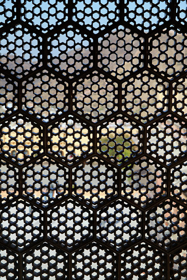 asia india lattice window screen photograph by kymri wilt