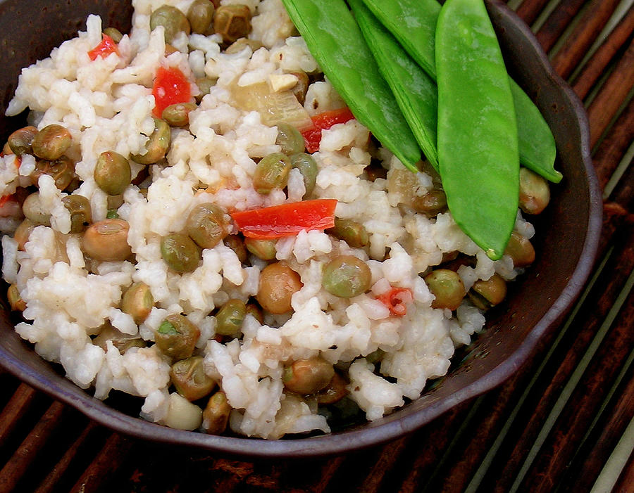 Beans And Rice Photograph - Asian Hoppin John by James Temple