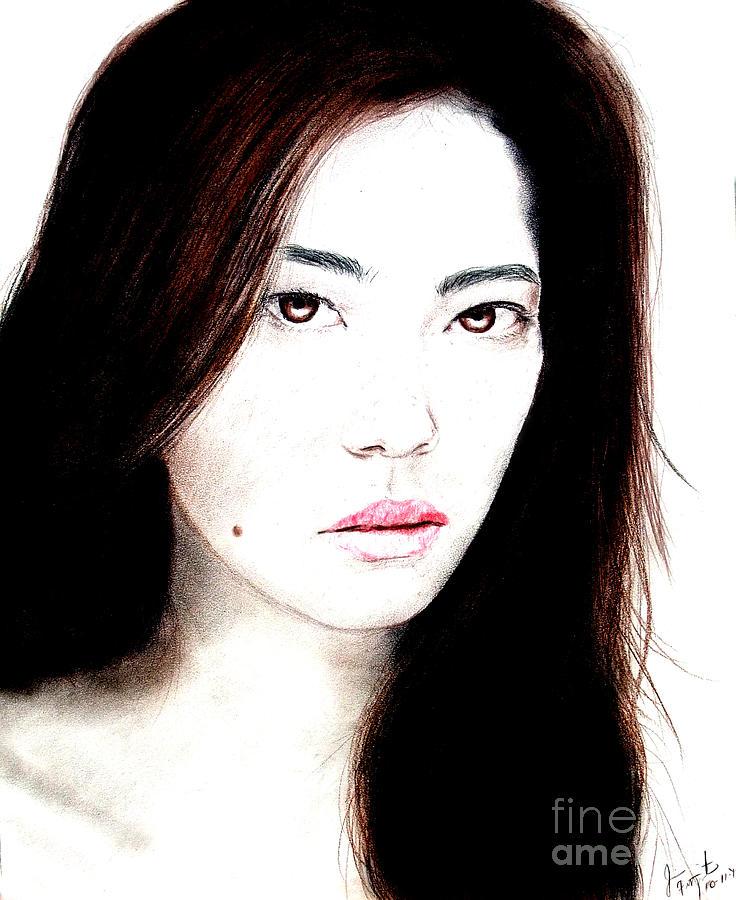 Closeup Drawing - Asian Model II by Jim Fitzpatrick