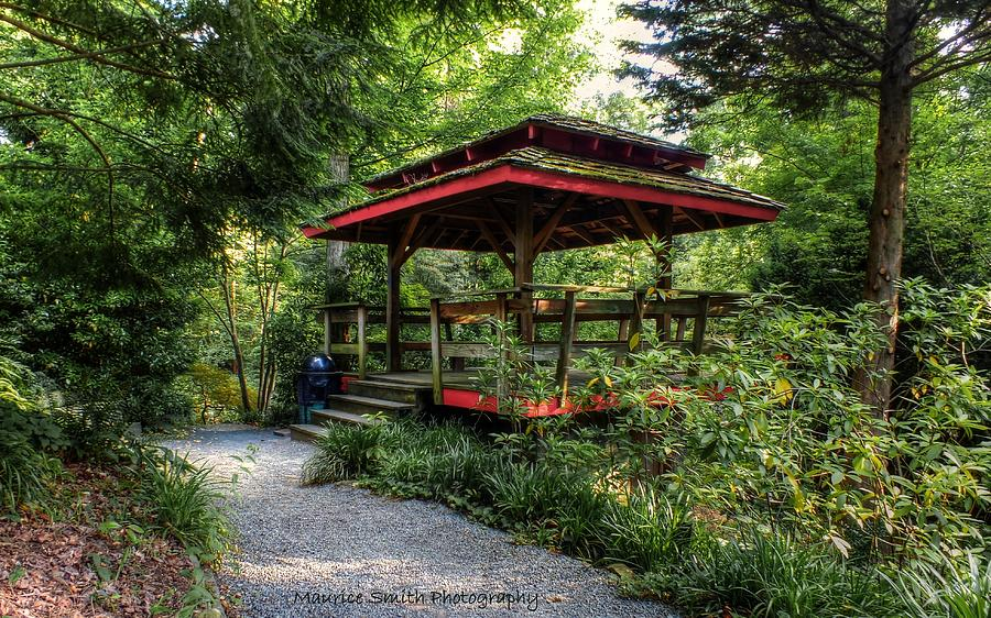 Exceptionnel Landscape Photograph   Asian Style Gazebo   Unc Charlotte Botanical Gardens  By Maurice Smith