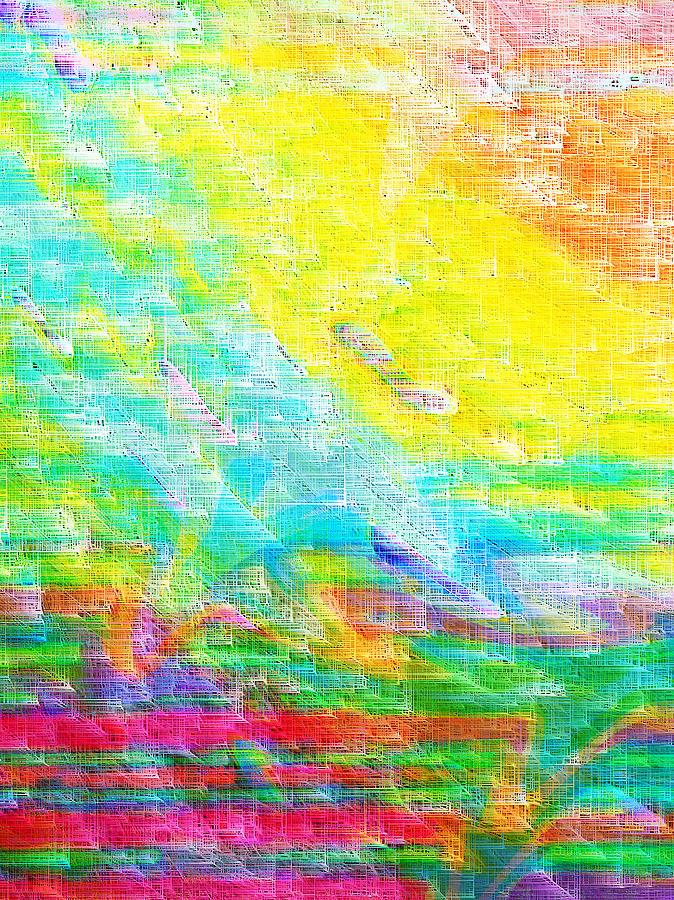 Abstract Digital Art - Asian Sunrise by Bruce Shannahoff