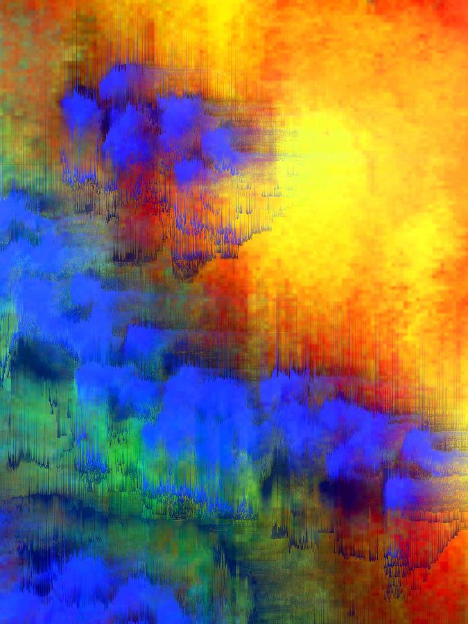 Abstract Digital Art - Asian Sunset by Bruce Shannahoff