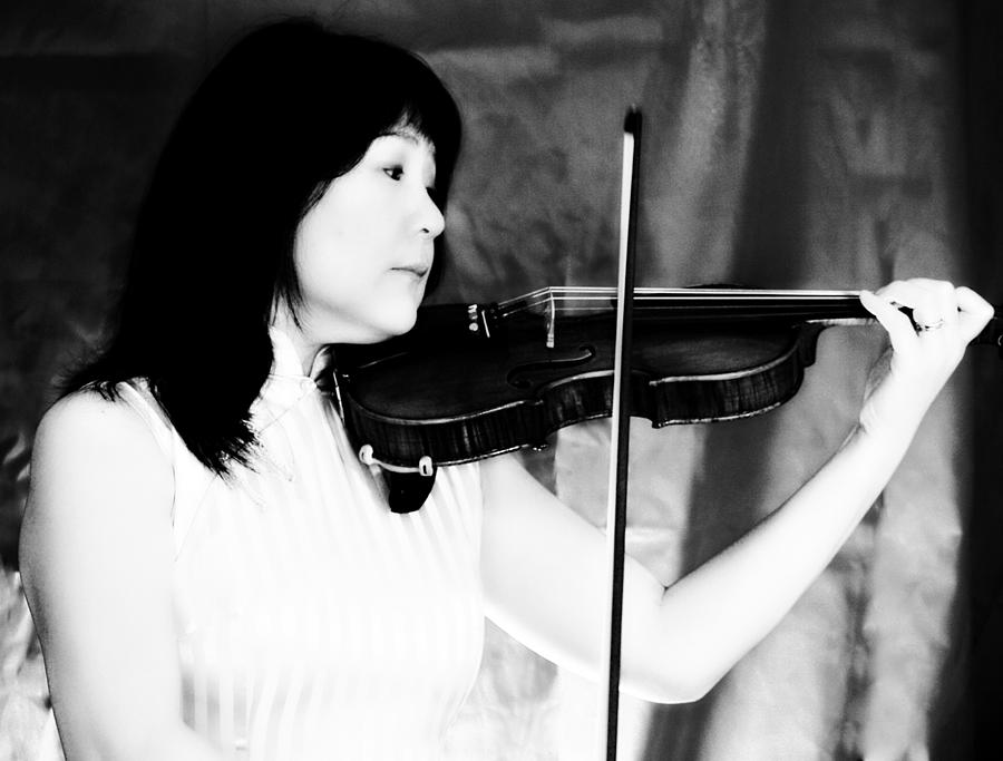 Musician Photograph - Asian Woman Playing The Violin by David Zoppi
