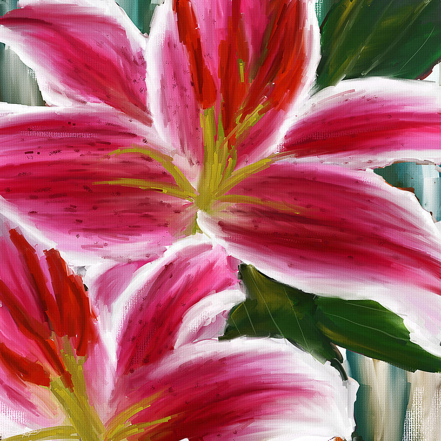 Asiatic lily asiatic lily paintings pink paintings painting by asiatic lily painting asiatic lily asiatic lily paintings pink paintings by lourry legarde izmirmasajfo