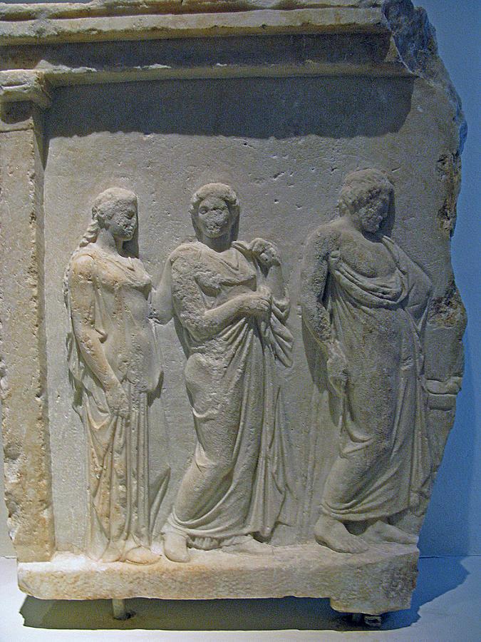 Asklepios With Hygeia Photograph