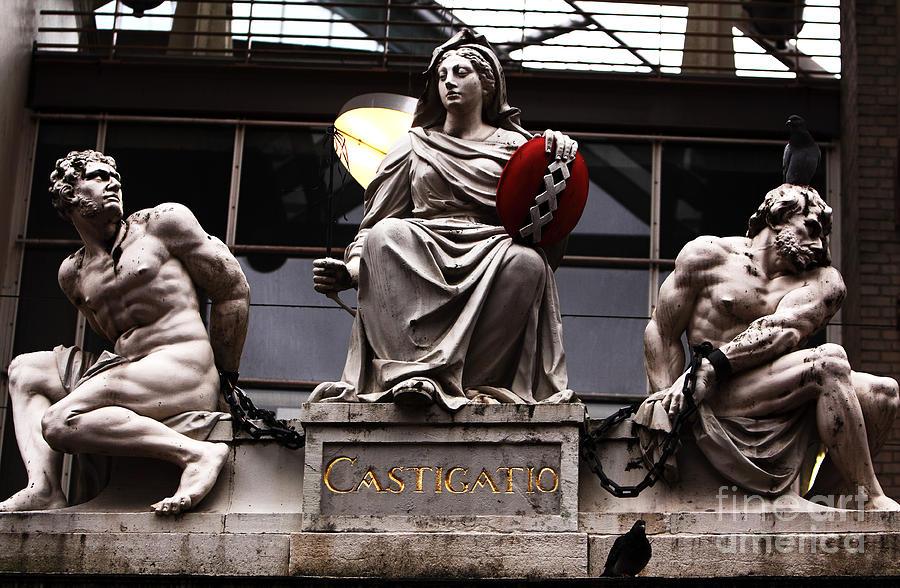 Amsterdam Photograph - Asmterdam Statues by John Rizzuto