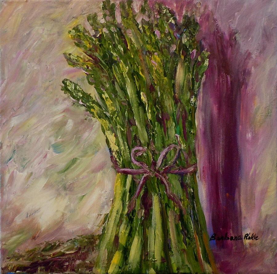 Vegetables Painting - Asparagus Wrapped In A Bow by Barbara Pirkle