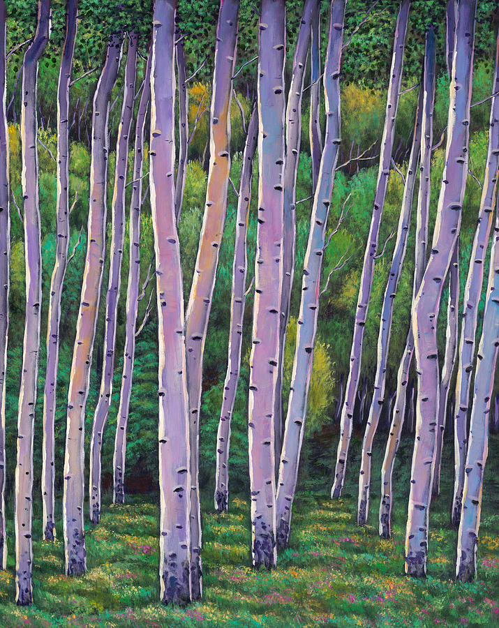 Summer Landscapes Painting - Aspen Enclave by Johnathan Harris