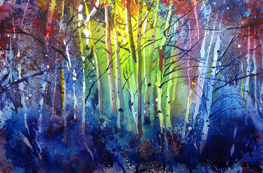 Kris Parins Painting - Aspen Grove by Kris Parins