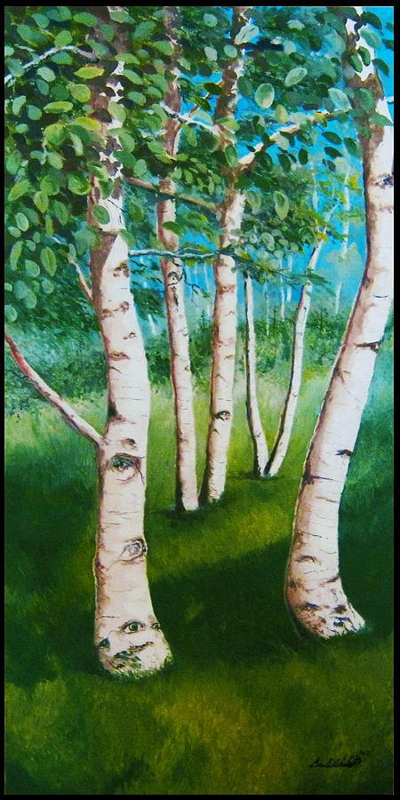Aspen Trees Painting - Aspen In The Spring by Bradd Wickert