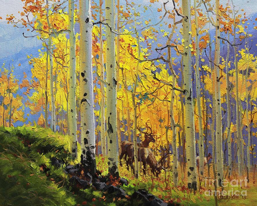 Aspen Kingdom Painting by Gary Kim