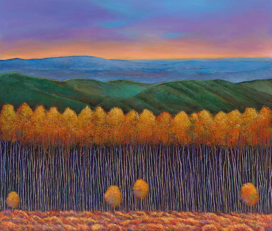 Landscapes Painting - Aspen Perspective by Johnathan Harris