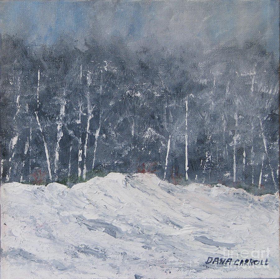 Landscape Painting - Aspen Ridge Blizzard by Dana Carroll