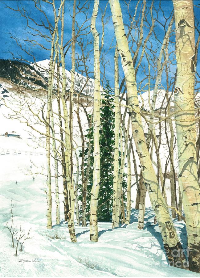 Barbara Jewell Painting - Aspen Shelter by Barbara Jewell