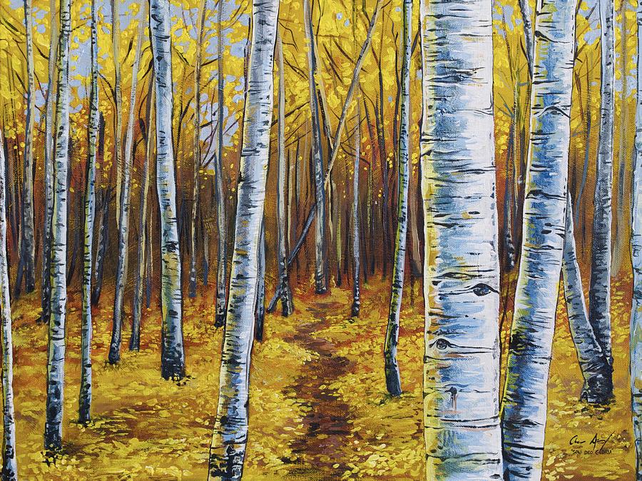 Aspen Acrylic Painting