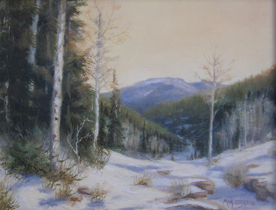 Mountains Painting - Aspen Trail by Mar Evers