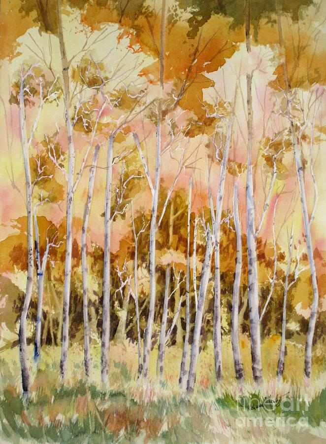 Fall Painting - Aspens 2 by Mohamed Hirji