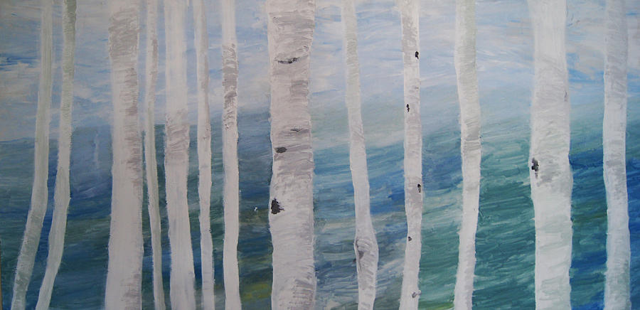 Aspen Painting - Aspens In Winter by Jessie Nolan