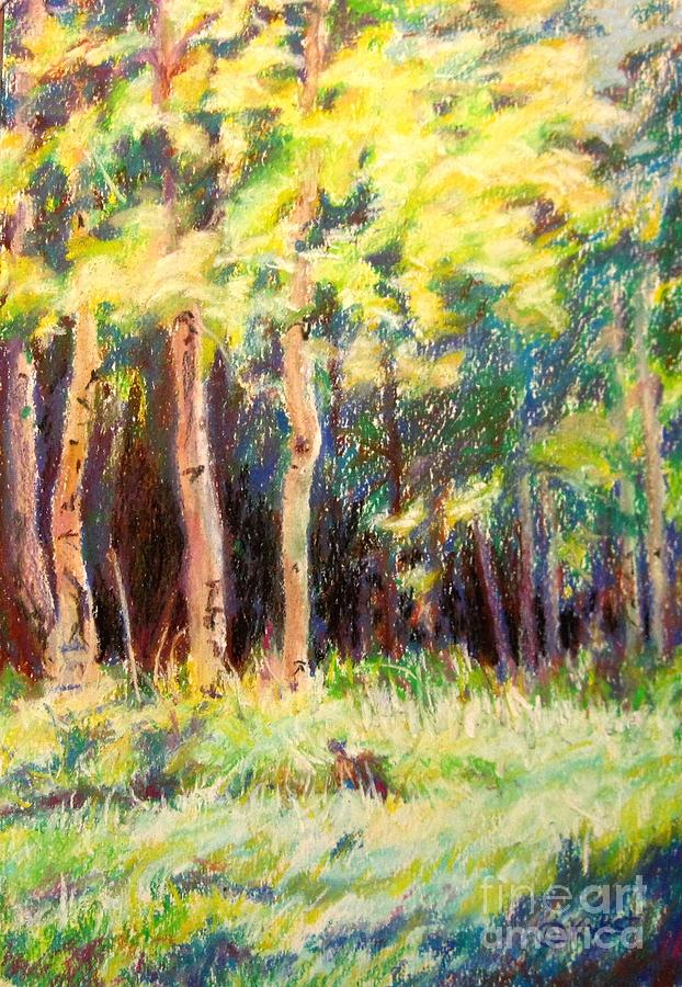 Landscape Painting - Aspens On The North Rim by Katrina West