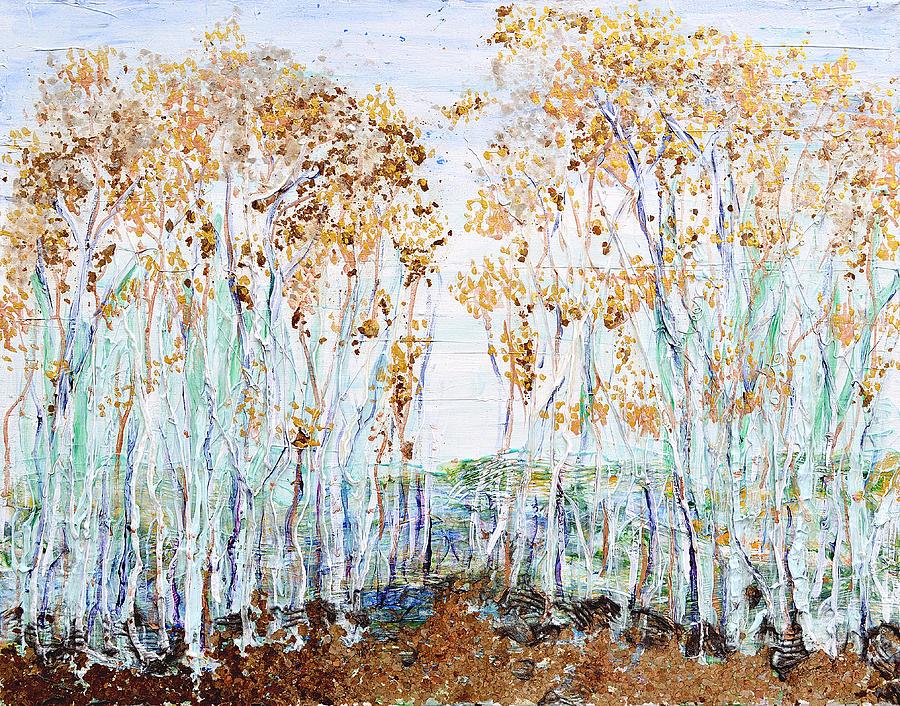 Aspens Painting - Aspens by Regina Valluzzi