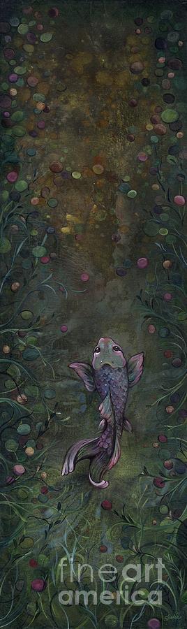 Koi Painting - Aspiration Of The Koi by Shadia Derbyshire