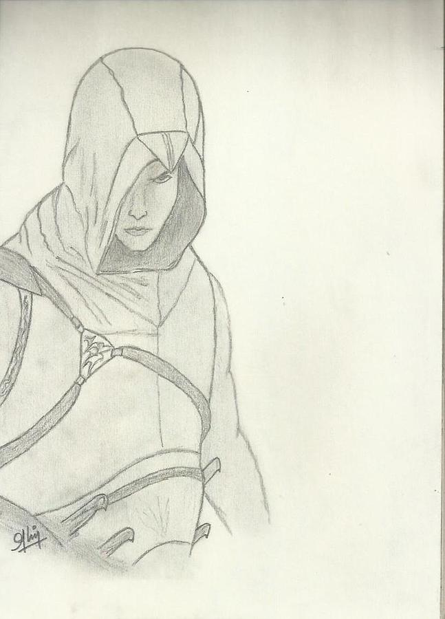 Assassin Creed Drawing - Assassin Sketch by Saleem Baig