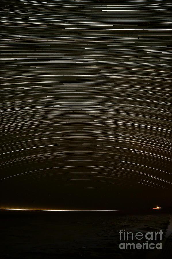 Star Photograph - Assateague Star Trails by Benjamin Reed