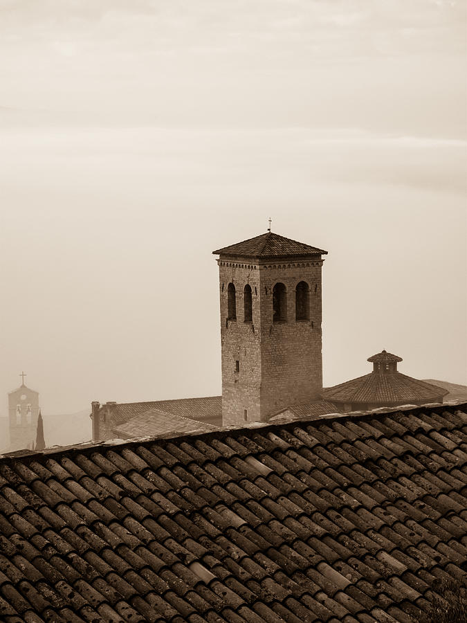 Assisi Photograph - Assisi Rooftop In Morning by Rande Cady