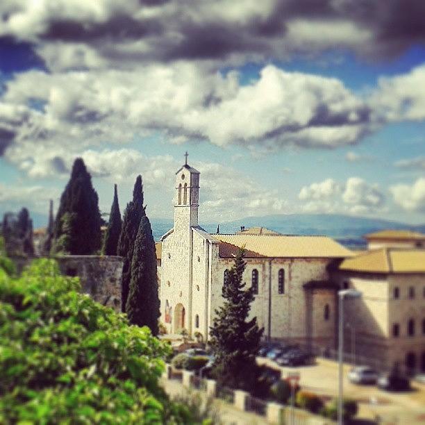 Outdoor Photograph - Assisi. San Francesco Place by Raimond Klavins