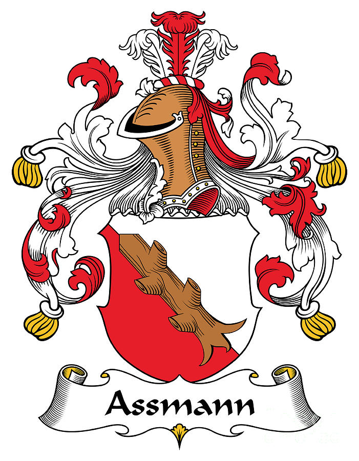 Genealogy Digital Art - Assmann Coat of Arms German by Heraldry
