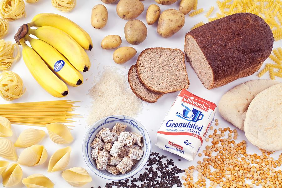 Food Photograph - Assorted Foods Containing Carbohydrates by Martyn F. Chillmaid