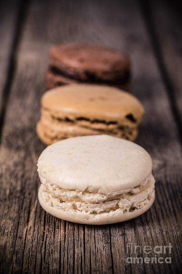 Background Photograph - Assorted Macaroons Vintage by Jane Rix