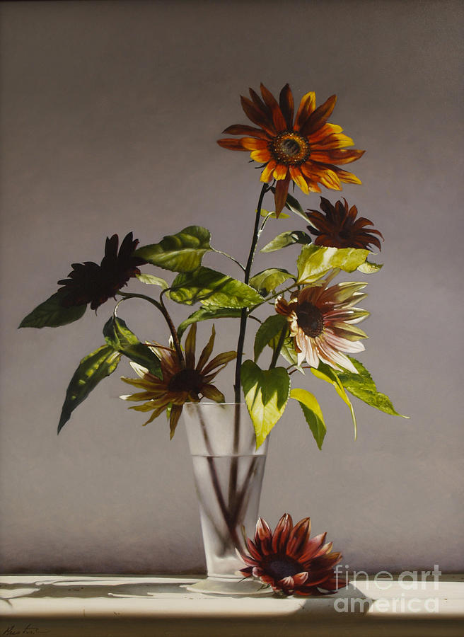 Sunflowers Painting - Assorted Sunflowers by Lawrence Preston