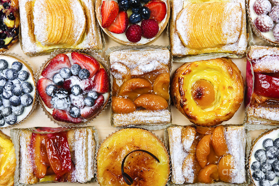 Pastries Photograph - Assorted Tarts And Pastries by Elena Elisseeva