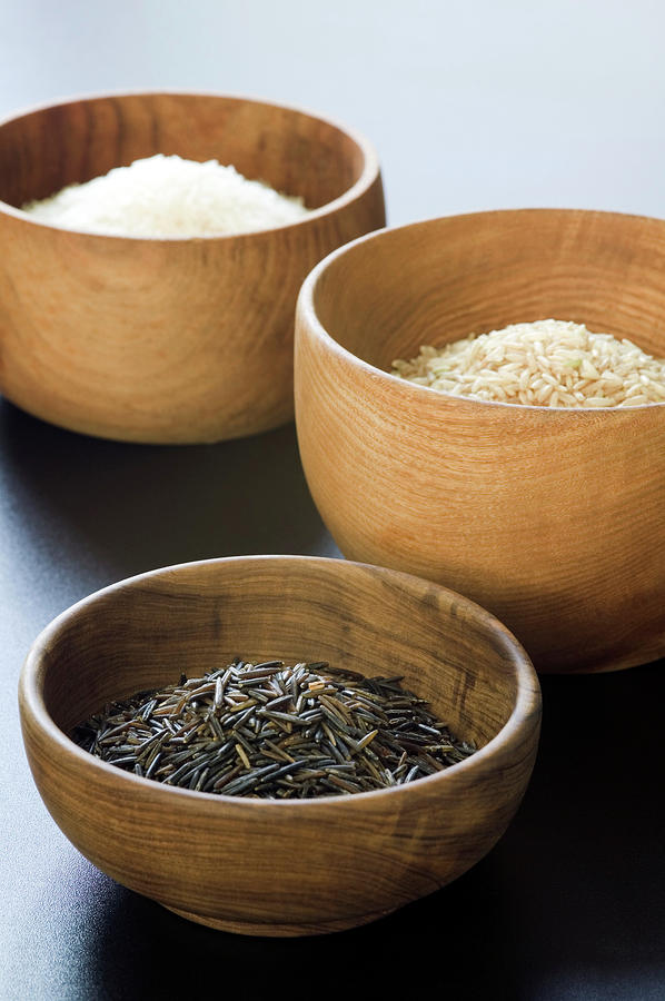 Wild Rice Photograph - Assortment Of Rice by Gustoimages/science Photo Library