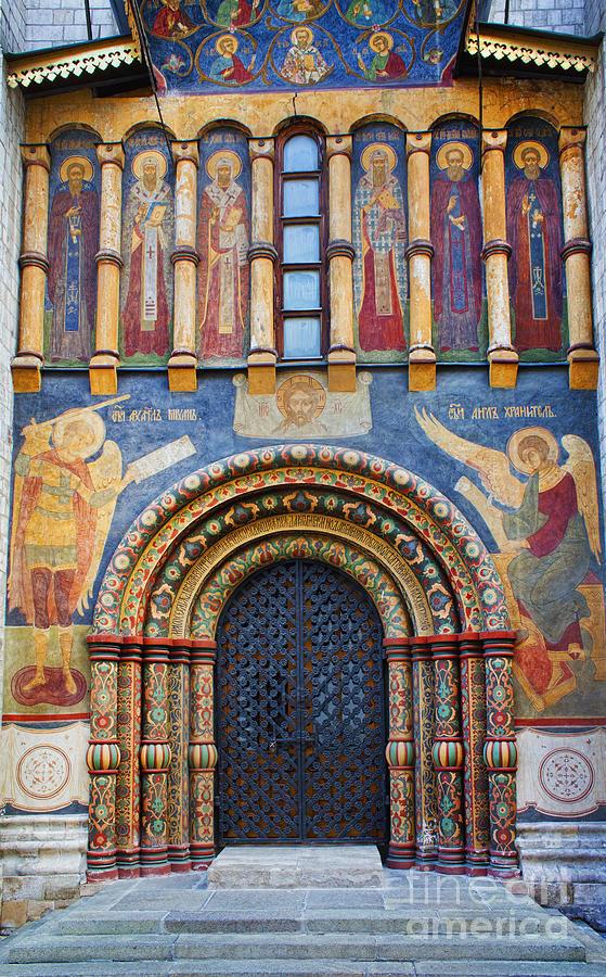 Frescoes Photograph - Assumption Cathedral Entrance by Elena Nosyreva