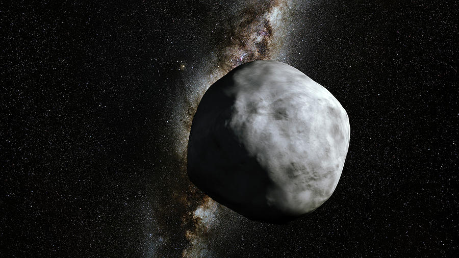 Milky Way Photograph - Asteroid Bennu And Milky Way by Nasa/gsfc/science Photo Library
