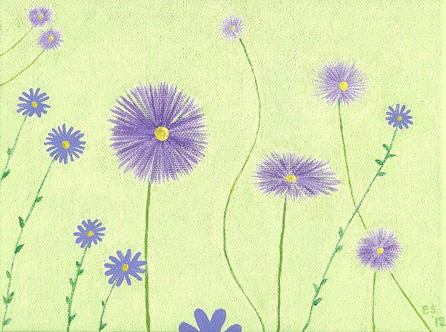 Asters Painting - Asters by Elizabeth Sullivan