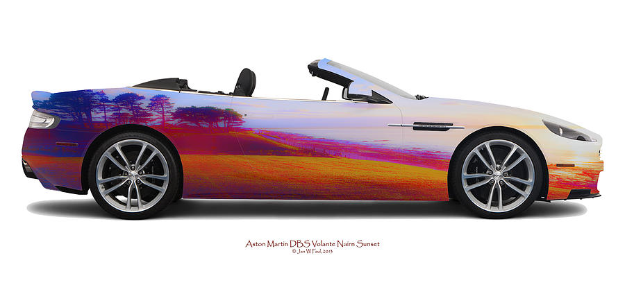 Aston Martin Photograph - Aston Martin Dbs Volante Nairn Sunset by Jan W Faul