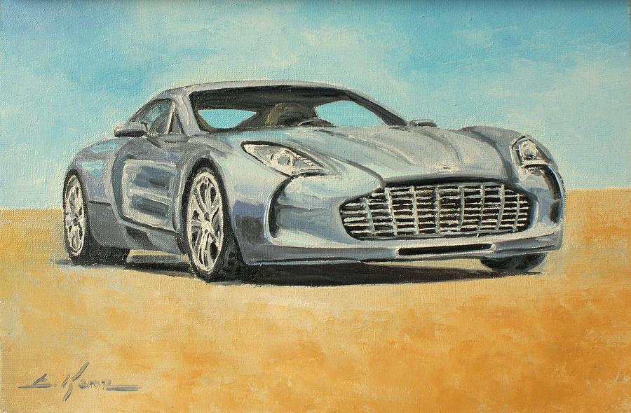 Aston Martin One 77 Painting By Luke Karcz